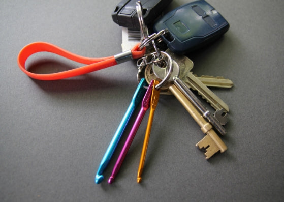 Crochet hook keyring
