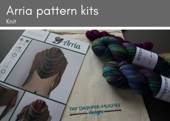 KIT for Arria knitting pattern 4 ply - Provenance Craft Co