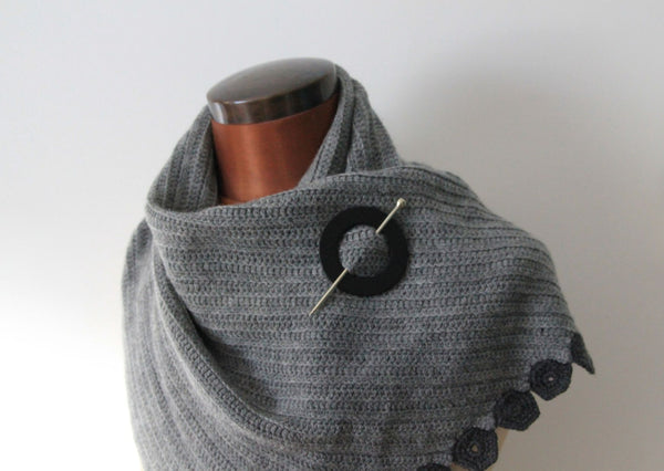Jul designs leather cuffs & shawl pins
