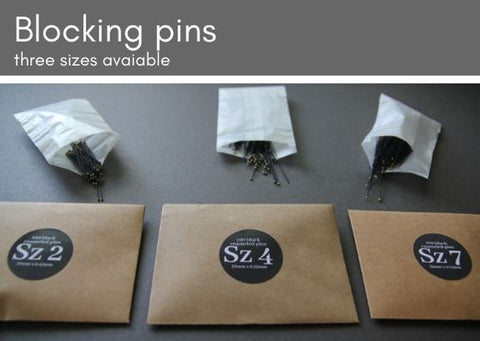 Blocking pins three sizes available (100 per pack) - Made in The Czech Republic