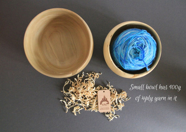 Wooden Yarn Bowls - two sizes & made in the UK