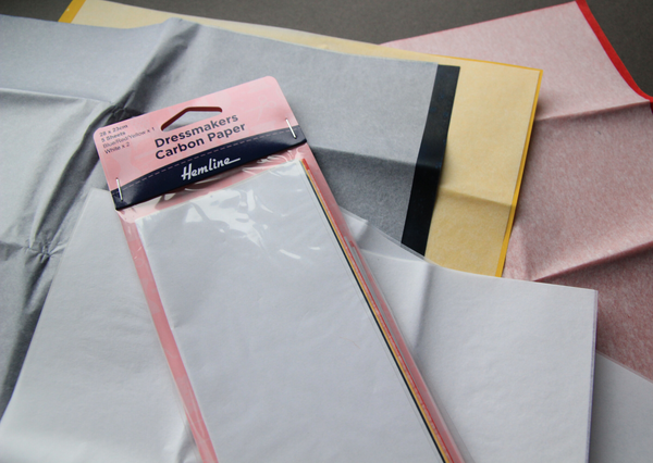 Carbon paper for dress makers and embroiderers