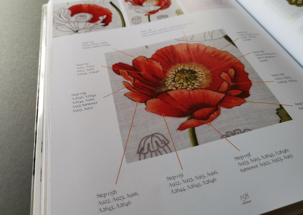 The Kew Book of Embroidered Flowers by Trish Burr