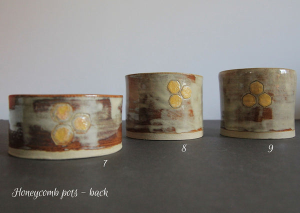 Honeycomb dishes, post & pincushions - MADE BY ME Ceramic dishes