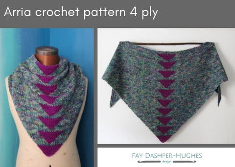 Arria crochet pattern 4 ply - digital or hard copy