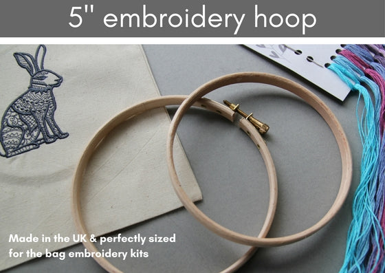 "Embroidery Hoops (4 - 8"") - Made in UK - Provenance Craft Co"