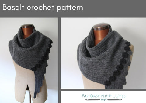 Basalt crochet pattern - digital or hard copy