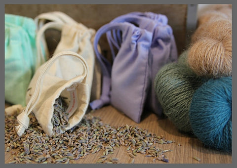 SALE Lavender bags - repel moths from your stash (3 bags) - Provenance Craft Co