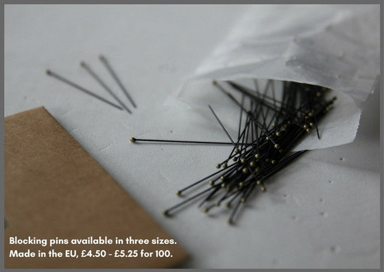 Blocking pins three sizes available (100 per pack) - Made in The Czech Republic - Provenance Craft Co