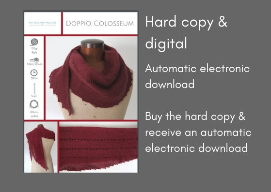 Doppio Colosseum knitting pattern - digital or hard copy - Provenance Craft Co