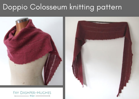 Doppio Colosseum knitting pattern - digital or hard copy