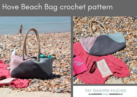 Hove Beach Bag crochet pattern - digital or hard copy