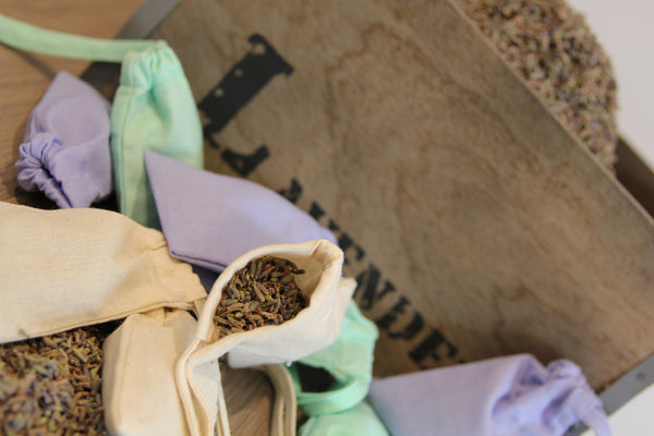 SALE Lavender bags - repel moths from your stash (3 bags)