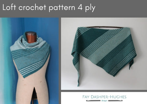 Loft crochet pattern 4 ply - digital or hard copy