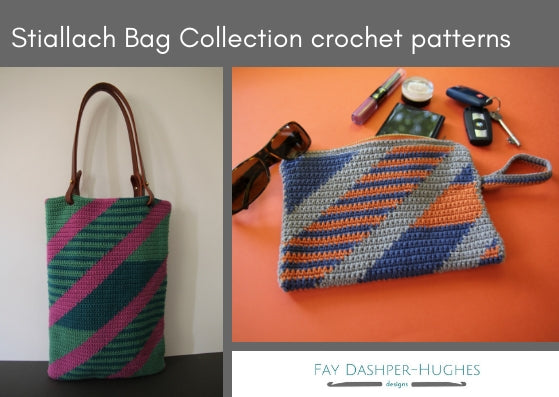 Stiallach Bag Collection crochet pattern - digital or hard copy