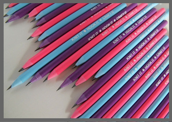 Recycled pencils - pack of 2, choose from three colours