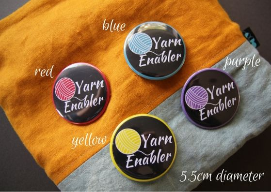 Button badges by Crochet Luna