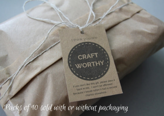 Worthy gift tags - pack of 10 - Provenance Craft Co