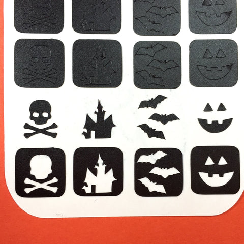 Single Halloween Mix Nail Vinyls