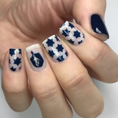 Star Of David Pattern Nail Vinyls