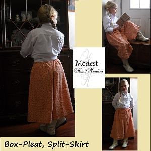 Girls' Box-Pleat Split-Skirt **Sewing Pattern