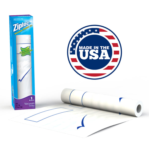 "Ziploc® Single 11"" x 16' Roll Vacuum Sealer Refill"