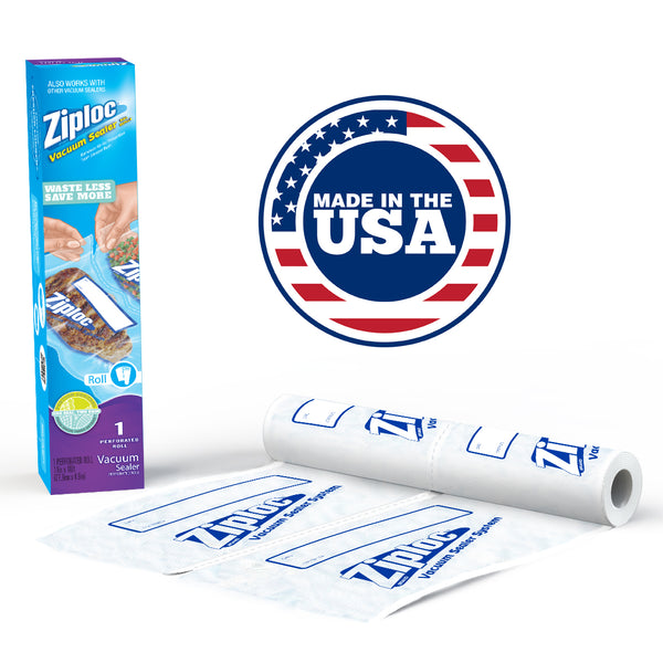 "Ziploc® Single Perforated 11"" x 16' Roll -  Use With Vacuum Sealer System"
