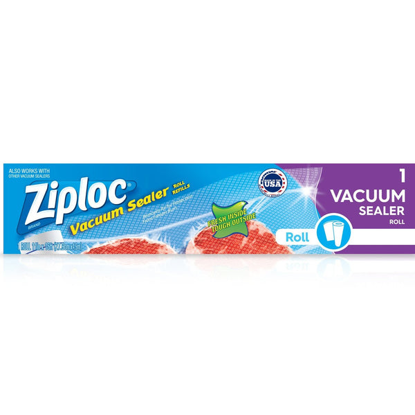 "Ziploc® Single 11"" x 16' Roll - Vacuum Sealer Roll Refill"