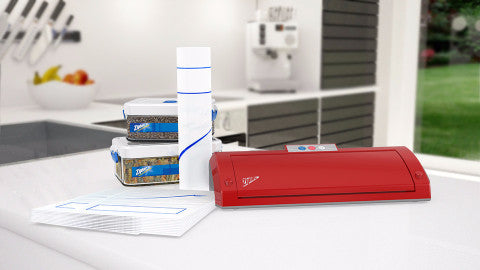 Ziploc® V203 Red Vacuum Sealer MegaBundle