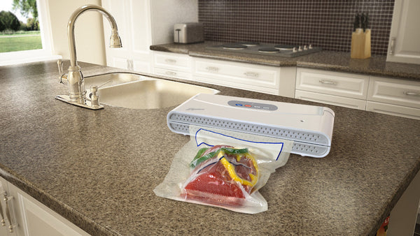 Ziploc® V151 White Vacuum Sealer Machine - Online Exclusive Bundle Offer