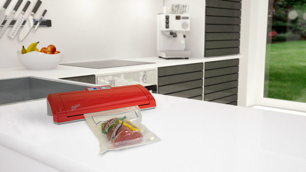 Ziploc® V205 Red Vacuum Sealer Online Exclusive Bundle Offer