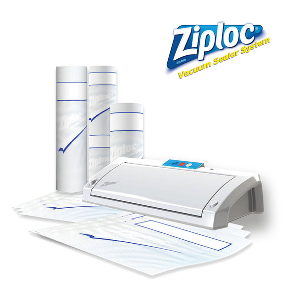 Ziploc® V203 White Vacuum Sealer Bundle