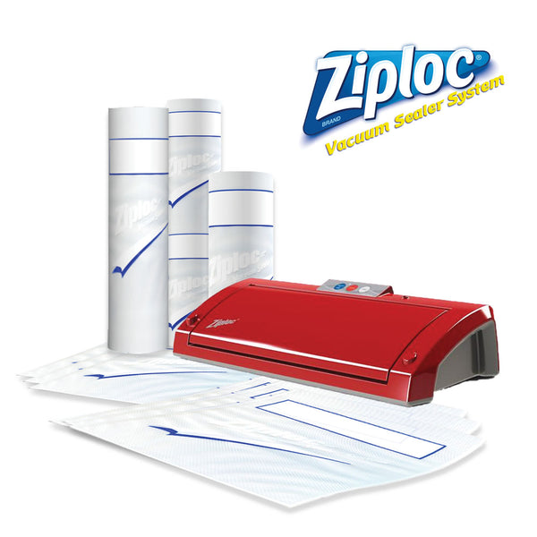Ziploc® V205 Red Vacuum Sealer Bundle