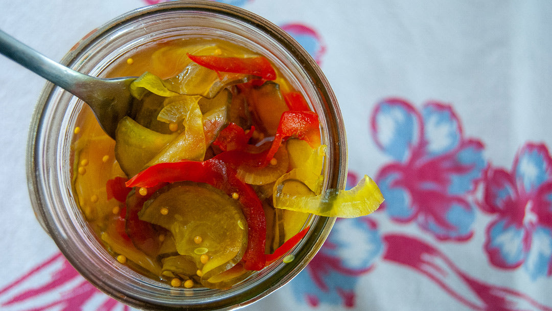 Bread and Butter Pickles made with Allulose