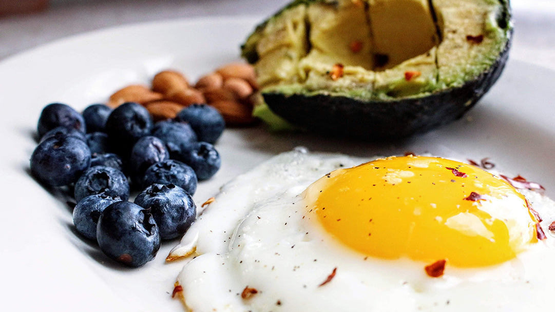 Fried Egg with Avocado and Berries Keto Diet