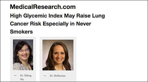HIGH GLYCEMIC INDEX MAY RAISE LUNG CANCER RISK ESPECIALLY IN NEVER SMOKERS