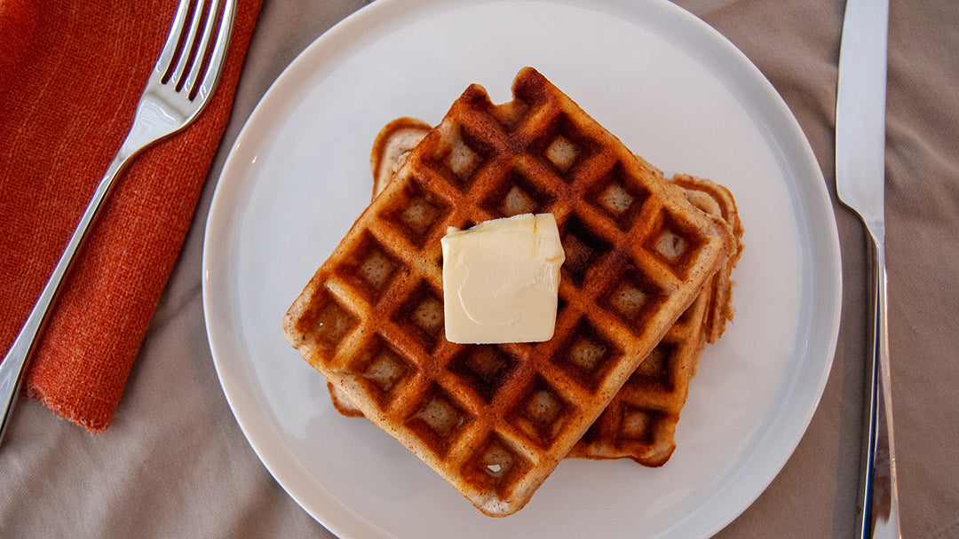 Homemade Waffle with KNOW Better Pancake Mix