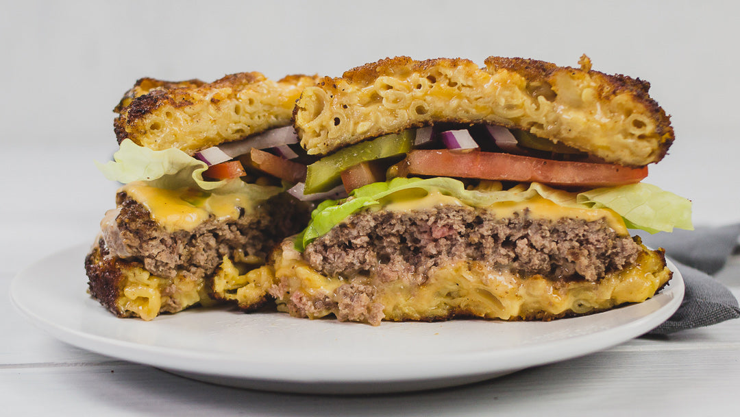 Grain-Free Mac and Cheese Burger