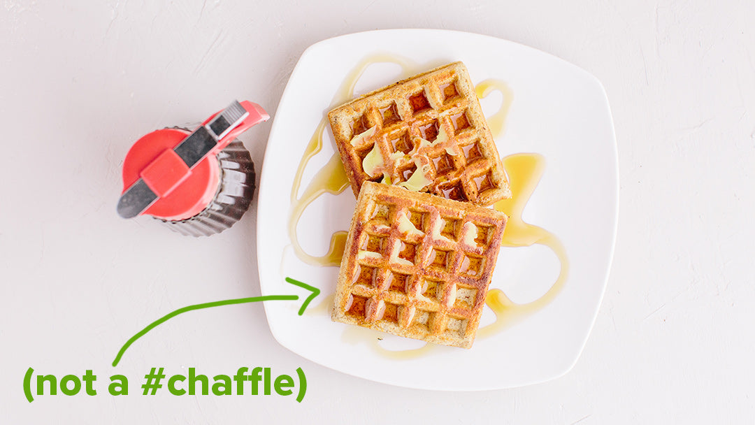 KNOW Better Classic Waffles with KNOW Better Syrup