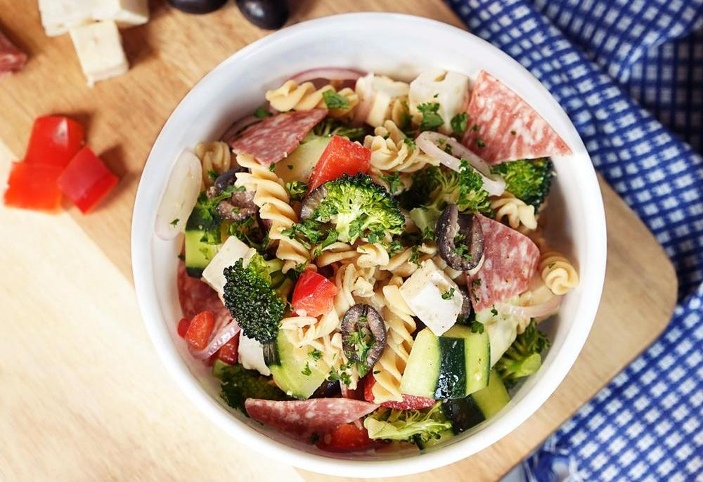 Greek Pasta Salad with KNOW Better Twists