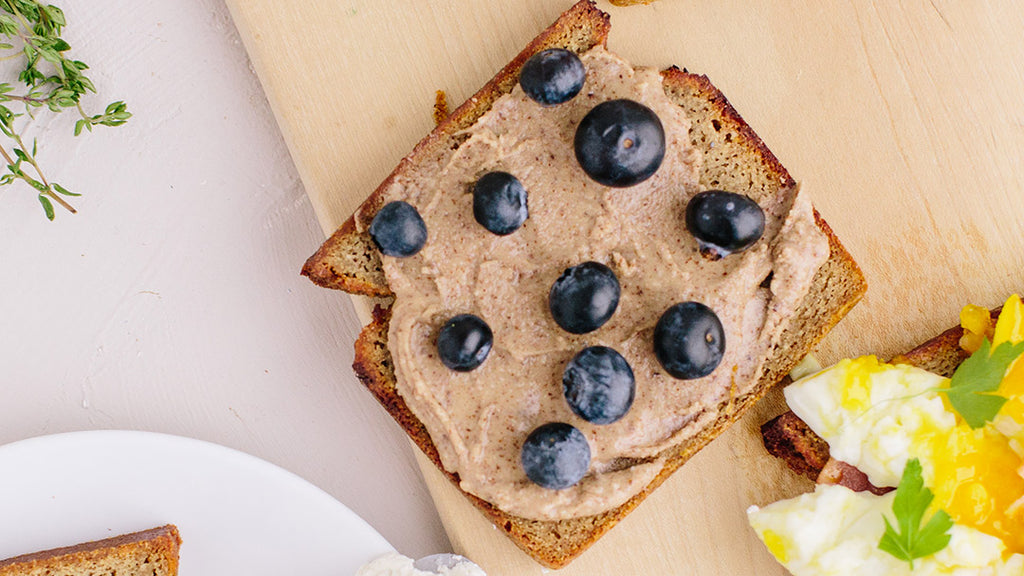 KNOW Better Slice with Allulose Almond Butter and Blueberries