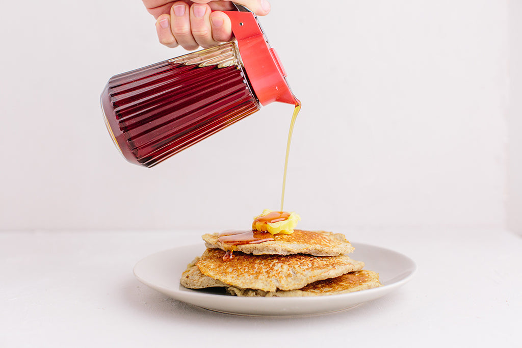 Pancakes with KNOW Better Syrup