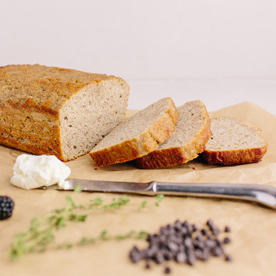 KNOW Better Bread Mix baked and sliced