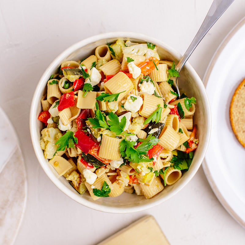 KNOW Better Roasted Vegetable Pasta Salad
