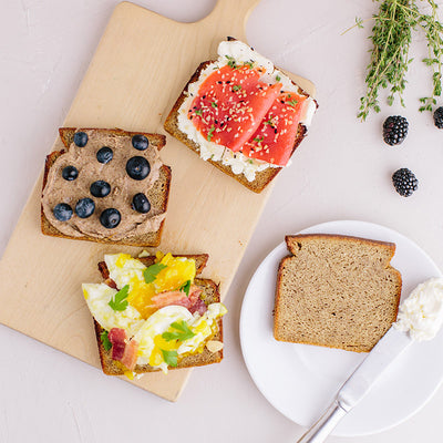 KNOW Better Slices with toast toppings