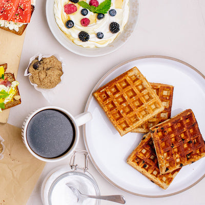 KNOW Better Waffles on table
