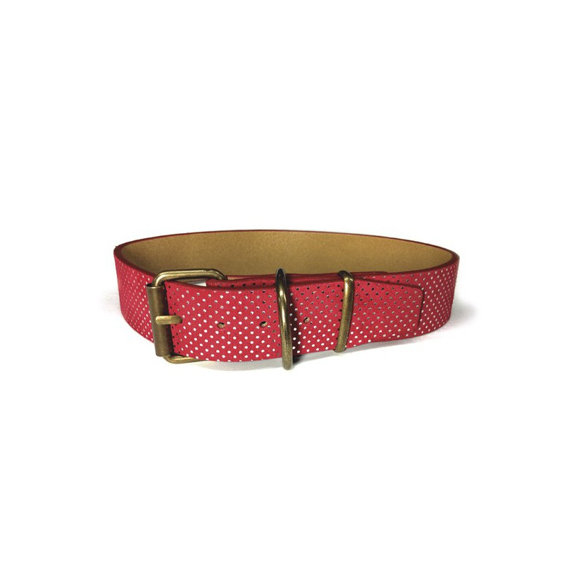 Collar Topitos Rojo 55cm