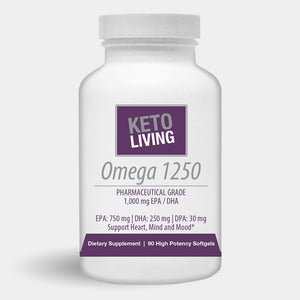 Keto Living Omega 1250 Pharmaceutical Grade 90ct