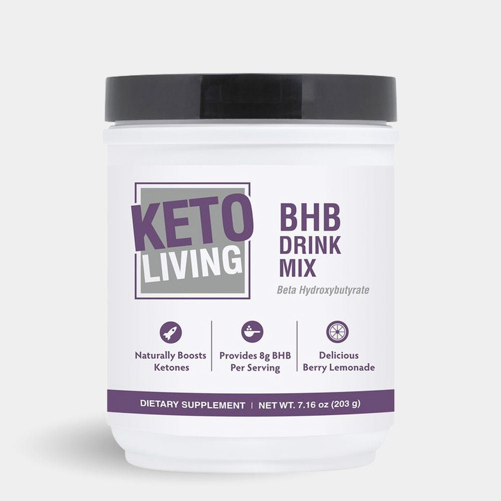 Keto Living Ketone Boosting Drink Mix Berry Lemonade 15 Servings