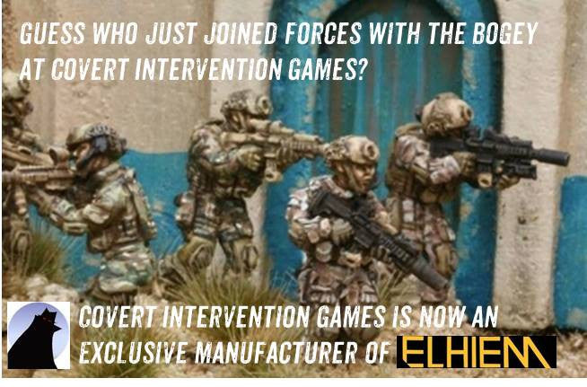 Covert Intervention Games in exclusive deal to manufacture the Elhiem Ltd. miniatures line!